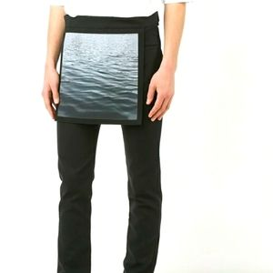 Raf  Simons waves Overlay  skinny  trousers